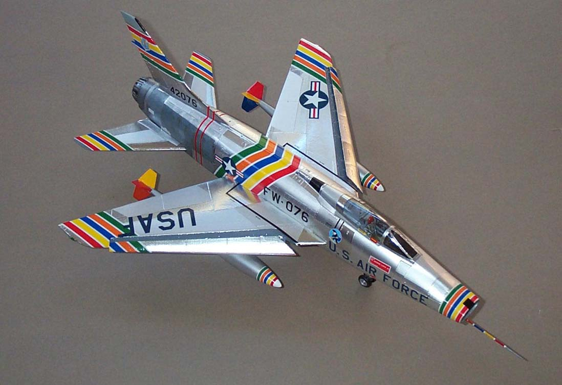 Photograph of Col. Laven's brightly-painted F-100C