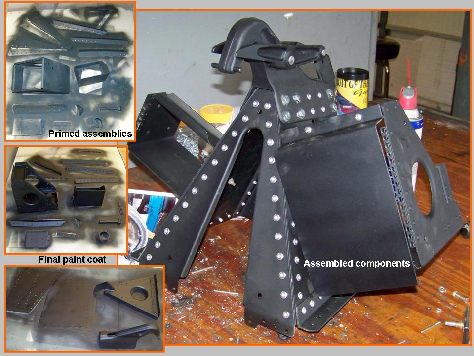 A composite picture of the canopyback deck components.