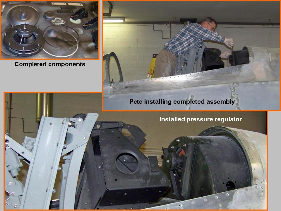 A composite picture that shows the work done to complete the cockpit 