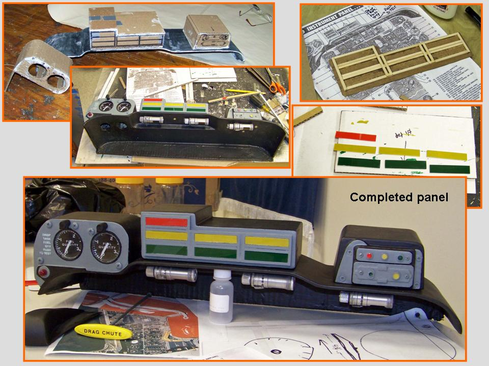 Composite picture documenting the completion of the shroud instrument boxes. 