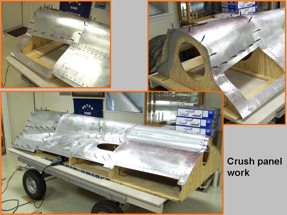 A composite picture of the completed crush panel work. 