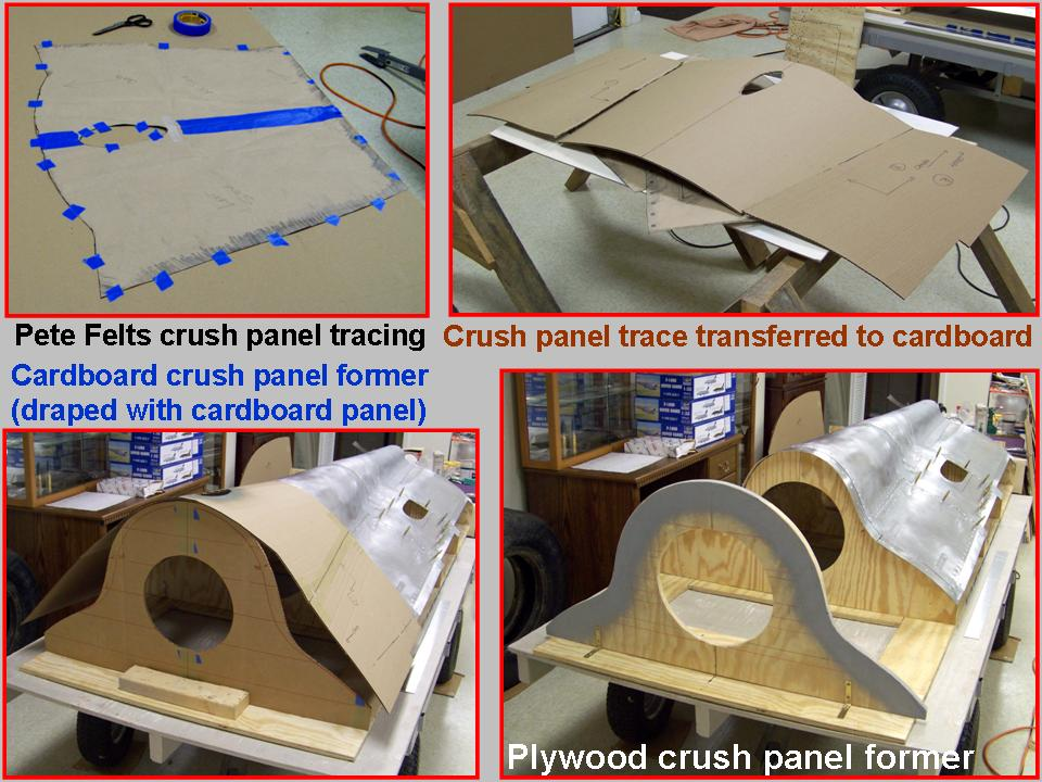A composite picture of initial crush panel work.