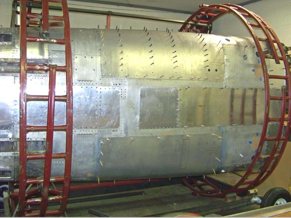 Picture of the fuselage bottom panels and the gun bay doors. 