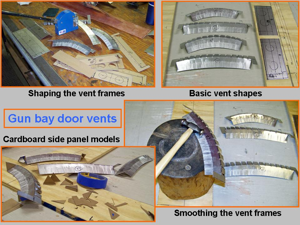 A composite picture showing gun bay door vent work. 