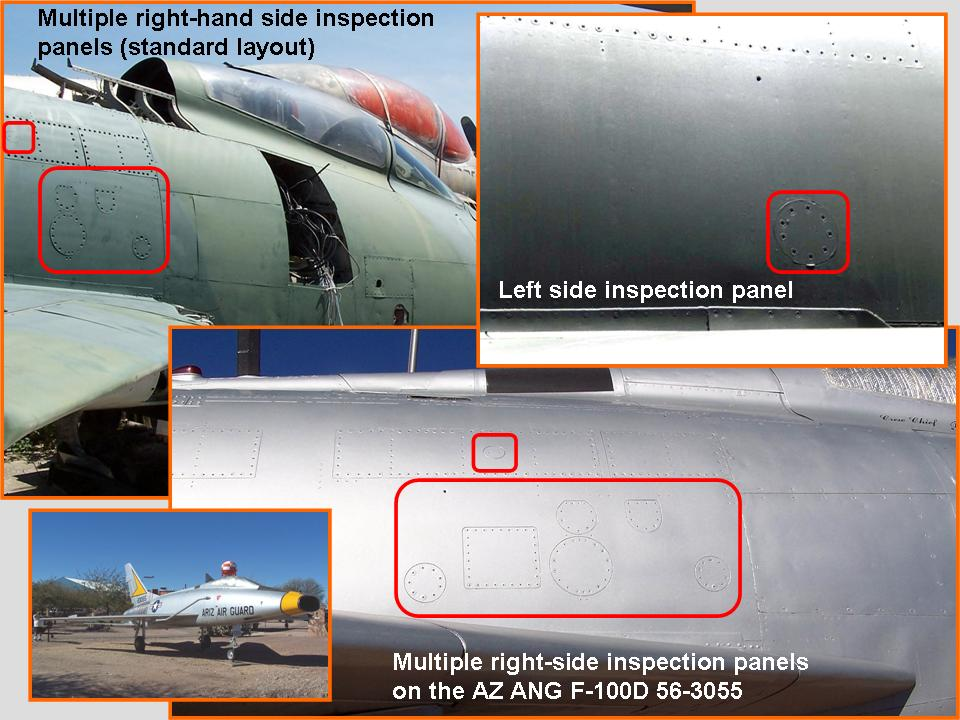 Composite picture of the completed fuselage work aft of the cockpit section.