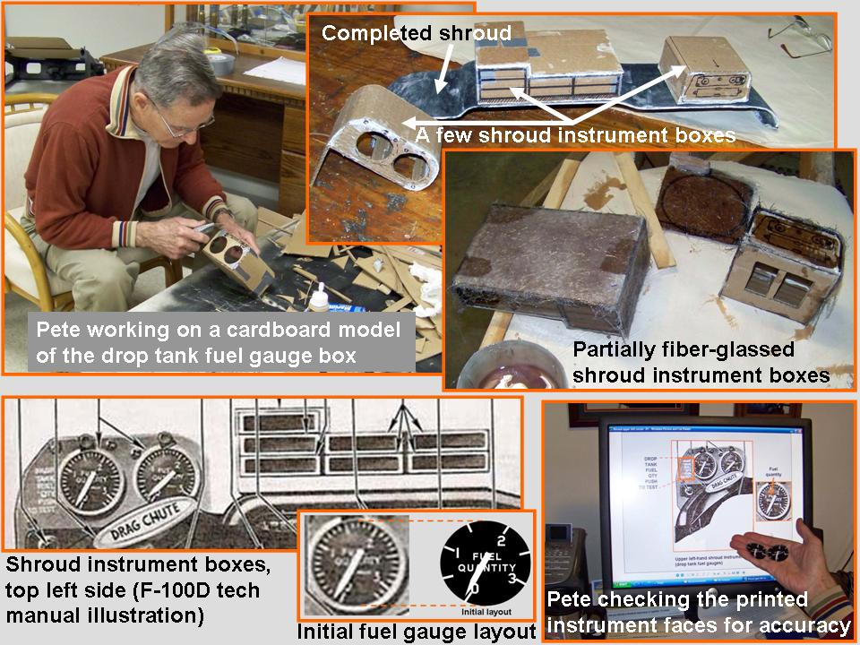 A composite picture that shows the work done to make the Instrument panel shroud