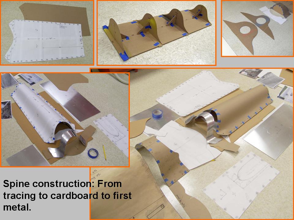 A composite picture of cardboard templates and models.
