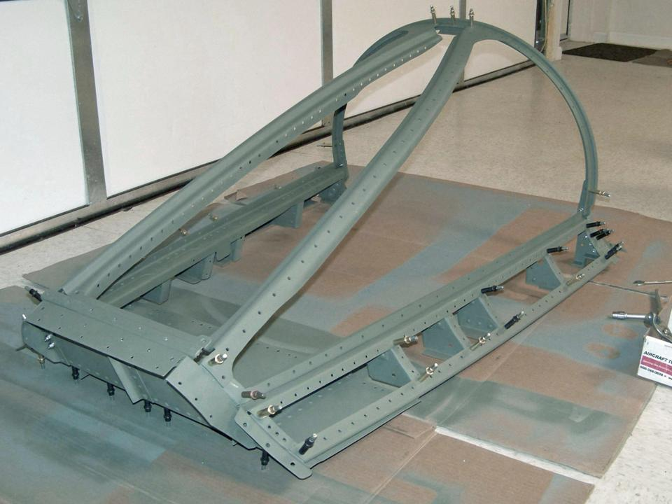 Assembled windscreen frame. Click on the picture to enlarge it.
